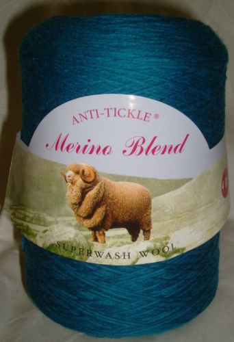 King Cole Pure Wool Yarn 500g Cone 4ply - Petrol